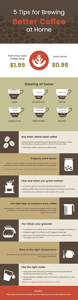 Coffee Brewing Infographic Design