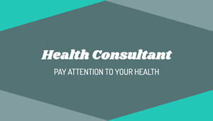Health Consultant Business Card Business Card Design