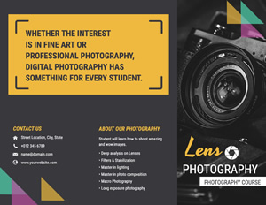 Camera Benefit Brochure Design