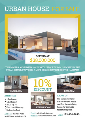 Real Estate Urban House Flyer design