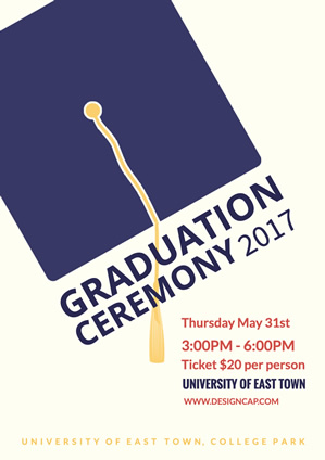Party Graduation Dance Poster Design