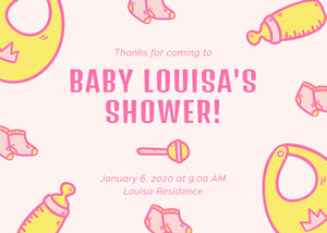 Adorable Baby Shower Card Design
