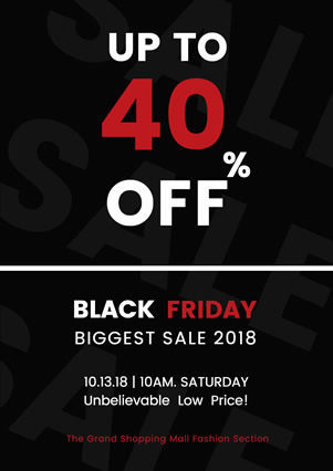 Minimalist Black Friday Sale Flyer Design