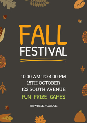 Festival Autumn Poster Design