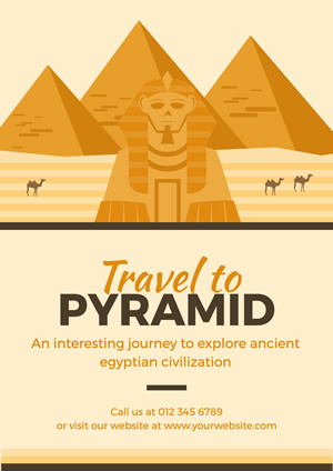 Great Sphinx and Pyramid Poster Poster Design