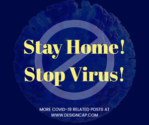 Stay Home and Stop Virus Facebook Post Design