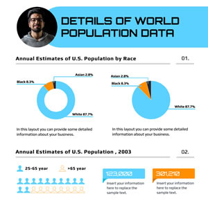 Population Data Pie Chart Chart Design