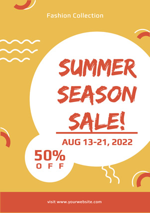 Yellow Summer Seasonal Sale Flyer Design