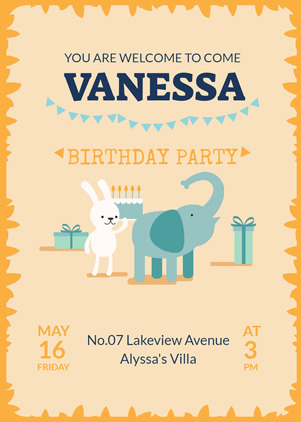 Cute Birthday Invitation Design