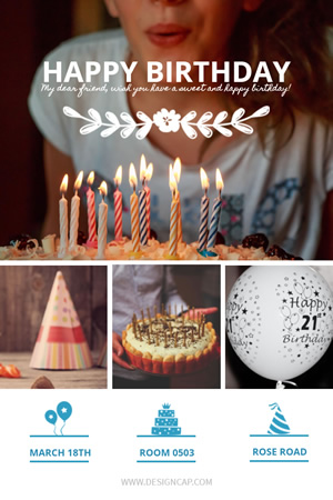 Happy Birthday to You Pinterest Graphic Design