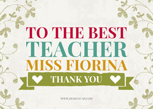Thank You Teacher Card Design