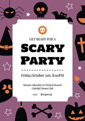 Holiday Halloween Scary Party Poster Design