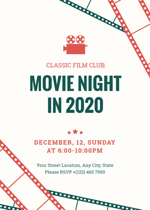 Movie Night Invitation Design