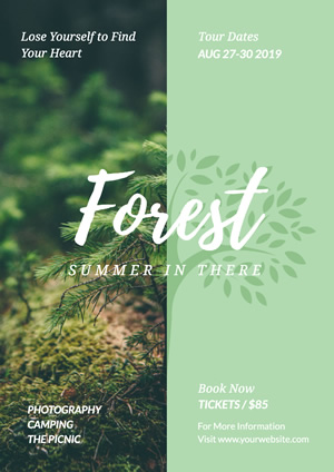 Green Forest Trip Poster Design