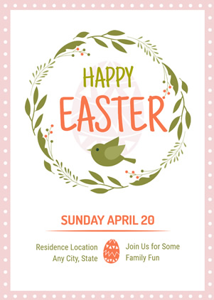 Happy Easter Invitation Design