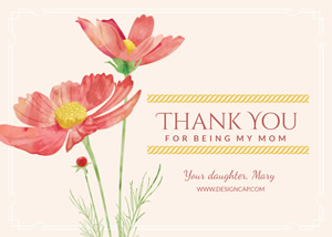 Thank You Mom Card Design