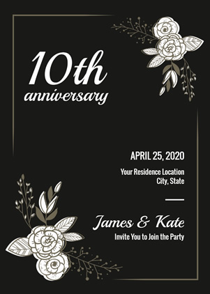 10th Anniversary Invitation Design