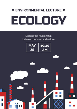 Polluting Factories Save Environment Poster Poster Design
