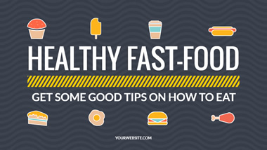 Healthy Fast Food YouTube Thumbnail Design
