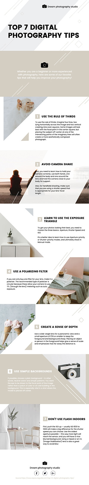Photography Studio Business Infographic Design