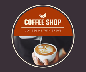 Coffee Shop Facebook Post Design