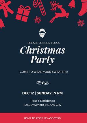 Decoration Christmas Party Invitation Design