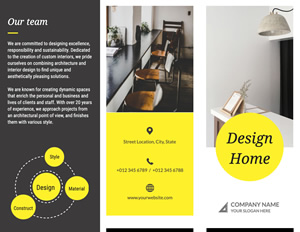 Interior Design Brochure Design