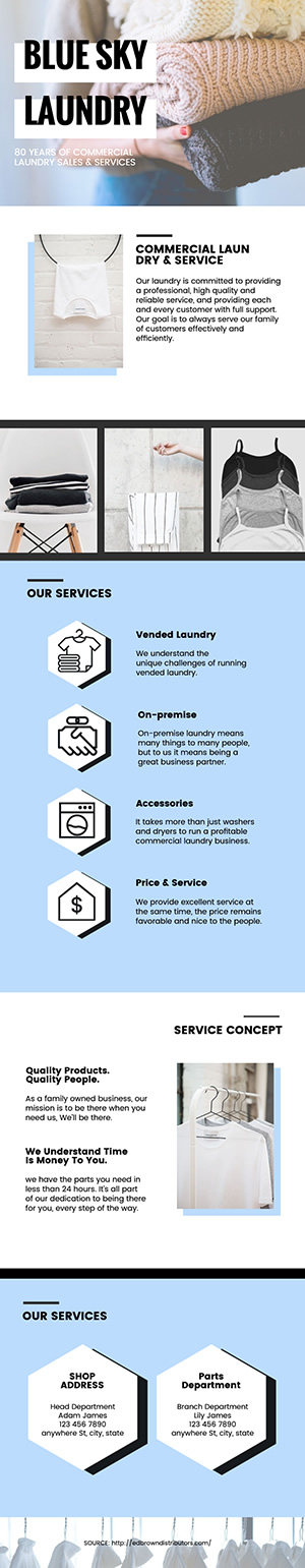 Laundry Service Infographic Design