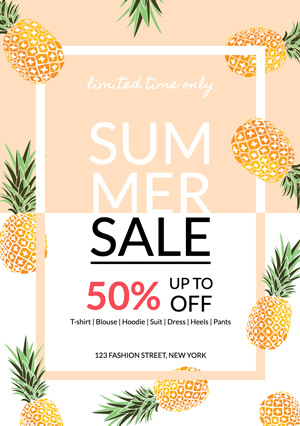 Market Promotion Summer Sale Flyer Design
