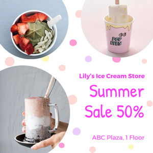 Ice Cream Store Special Offers Instagram Post Design