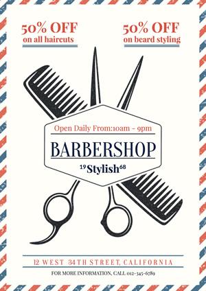 Barbershop Banner Designs - desain spanduk kreatif