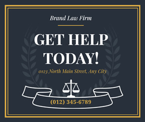 Law Firm Facebook Post Design