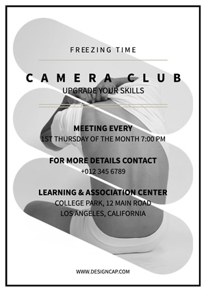 Club Recruit Camera Club Flyer Design