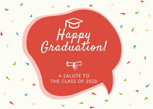 Confetti and Graduation Card Design