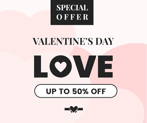 Valentines Day Sale Facebook Post Design