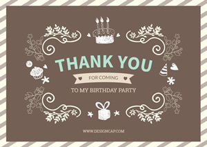 Birthday Thank You Card Design