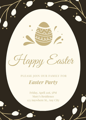 Convallaria Easter Party Invitation Design