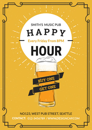 Happy Hour 01 Flyer Design