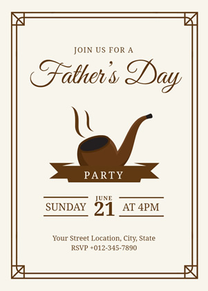 Happy Fathers Day Party Invitation Design