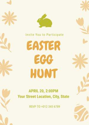 Simple Easter Egg Hunt Invitation Design
