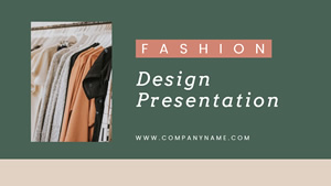 Fashion Design Presentation Design