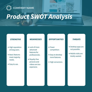 Product Swot Analysis Chart Design