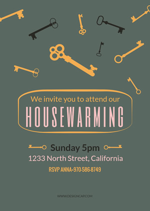 Simple Housewarming Invitation Design