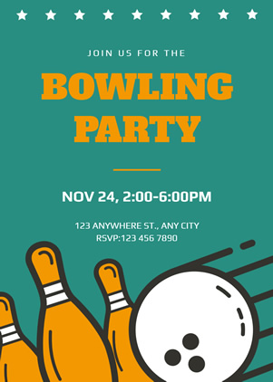 Bowling Party Invitation Design