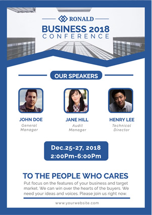 Simple Business Conference Flyer Design