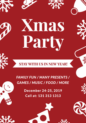 Decoration Christmas Party Flyer design