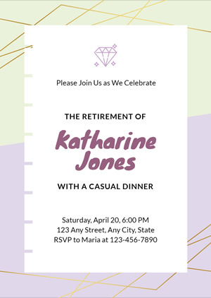 Simple Retirement Invitation Design