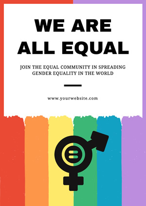 Gender Equality Initiative Poster Poster Design