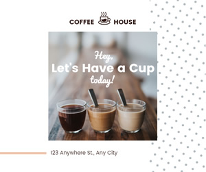 Coffee House Facebook Post Design