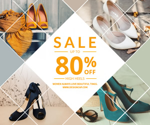 Heels Sale Facebook Post Design